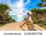 paradise scenery of tulum at... | Shutterstock . vector #1248385738