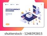 cryptocurrency exchange... | Shutterstock .eps vector #1248392815