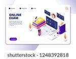 online questionnaire isometric... | Shutterstock .eps vector #1248392818