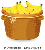 banana in the basket... | Shutterstock .eps vector #1248395755