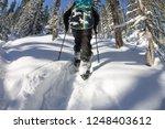 asian man snowboarder freeride...   Shutterstock . vector #1248403612