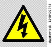 danger electricity vector sign. ... | Shutterstock .eps vector #1248403798