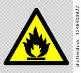 flammable material or high... | Shutterstock .eps vector #1248403822