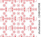 seamless pattern with needles ... | Shutterstock .eps vector #1248410908