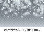 realistic snow background.... | Shutterstock .eps vector #1248411862