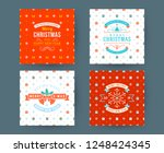 merry christmas and happy new... | Shutterstock .eps vector #1248424345