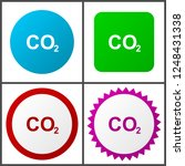 carbon dioxide red  blue  green ... | Shutterstock .eps vector #1248431338