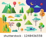 abstract forest plants and... | Shutterstock .eps vector #1248436558