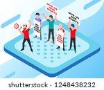 isometric vector illustration... | Shutterstock .eps vector #1248438232