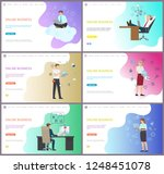 online business for companies... | Shutterstock .eps vector #1248451078