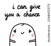 i can give you a chance hand... | Shutterstock .eps vector #1248452575