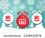 merry christmas and happy new... | Shutterstock .eps vector #1248452878