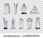 trophies transparent realistic... | Shutterstock .eps vector #1248454045