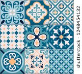 colored and realistic ceramic... | Shutterstock .eps vector #1248454132