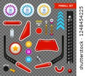 isolated pinball elements... | Shutterstock .eps vector #1248454225