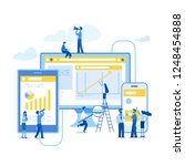people are working to increase... | Shutterstock .eps vector #1248454888