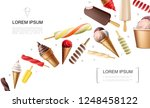 realistic ice cream concept | Shutterstock .eps vector #1248458122