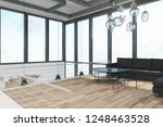 illuminated two story office... | Shutterstock . vector #1248463528