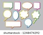 vector bubbles speech set. | Shutterstock .eps vector #1248474292