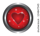 the big button with a red heart | Shutterstock .eps vector #124847545