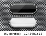 black and white buttons on... | Shutterstock . vector #1248481618