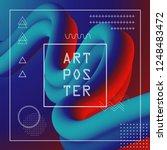 3d abstract flow fluid shapes.... | Shutterstock .eps vector #1248483472