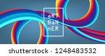 3d abstract flow fluid shapes.... | Shutterstock .eps vector #1248483532