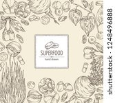 background with super food ... | Shutterstock .eps vector #1248496888
