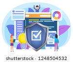 local or online data secured ... | Shutterstock .eps vector #1248504532