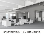 interior of modern office with... | Shutterstock . vector #1248505045