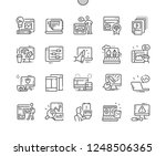 web design well crafted pixel... | Shutterstock .eps vector #1248506365
