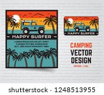 surf graphics poster and logo.... | Shutterstock .eps vector #1248513955