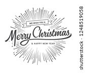merry christmas vector text... | Shutterstock .eps vector #1248519058