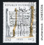 austria   circa 1975  stamp...   Shutterstock . vector #124853206