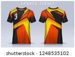 t shirt sport design template ... | Shutterstock .eps vector #1248535102