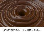 3d chocolate swirl   Shutterstock . vector #1248535168