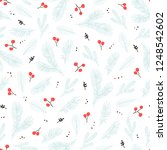 seamless christmas pattern with ... | Shutterstock .eps vector #1248542602