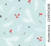 seamless christmas pattern with ... | Shutterstock .eps vector #1248542608