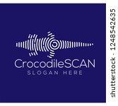 crocodile scan technology logo...   Shutterstock .eps vector #1248542635