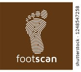 foot scan technology logo icon... | Shutterstock .eps vector #1248547258