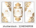 luxury golden packaging design... | Shutterstock .eps vector #1248548908