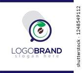 Coffee With Leaf Green Logo...