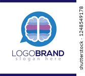 brain talk message logo icon... | Shutterstock .eps vector #1248549178
