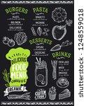 organic menu template for... | Shutterstock .eps vector #1248559018