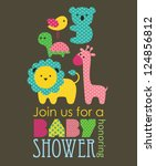 Baby Shower Design. Vector...