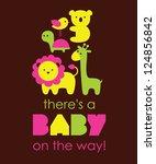 baby shower design. vector... | Shutterstock .eps vector #124856842