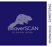 beaver scan technology logo...   Shutterstock .eps vector #1248573562