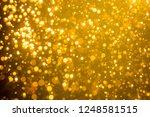 golden blur glitter  lights... | Shutterstock . vector #1248581515