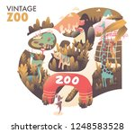 zoo colorful vintage...