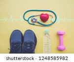 healthcare concept  stethoscope ... | Shutterstock . vector #1248585982